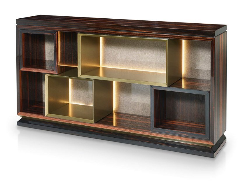 Ebony sideboard with integrated lighting BLAKE | Sideboard by Sicis