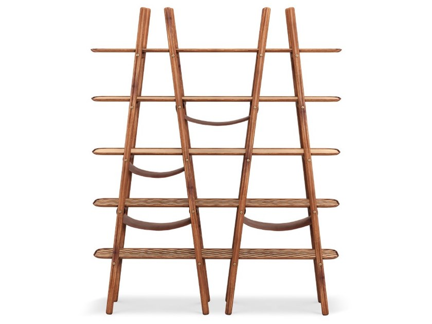 Open freestanding walnut shelving unit BLAKE by Wood Tailors Club