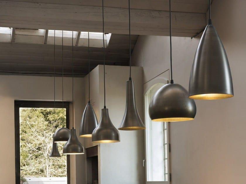 LED metal pendant lamp BLANCNOIR by Olev