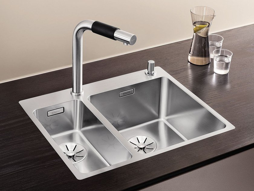 2 bowl stainless steel sink BLANCO ANDANO 340/180-IF/A by Blanco