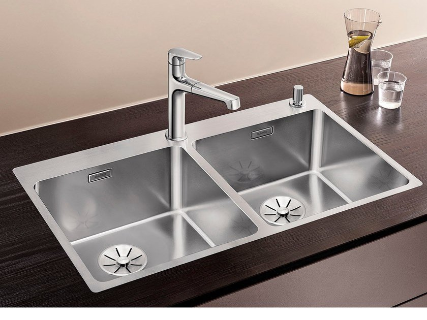 2 bowl stainless steel sink BLANCO ANDANO 400/400-IF/A by Blanco