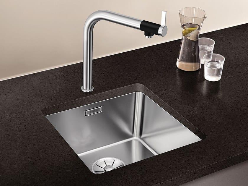 Lavello a una vasca sottotop in acciaio inox BLANCO ANDANO 400-U by Blanco