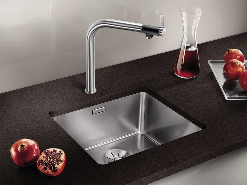 Lavello a una vasca da incasso sottotop in acciaio inox in stile moderno BLANCO ANDANO 450-U by Blanco