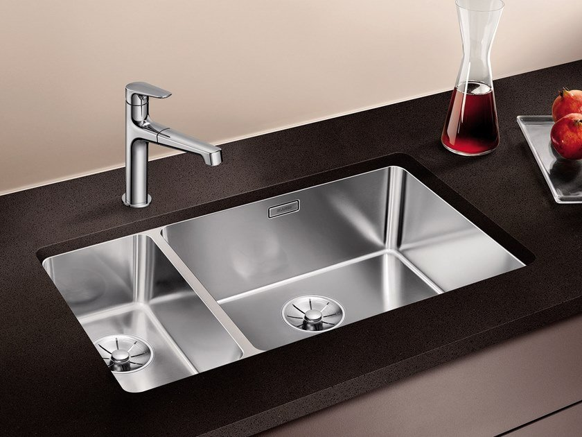 Top 1 1/2 bowl undermount stainless steel sink BLANCO ANDANO 500 ZM88