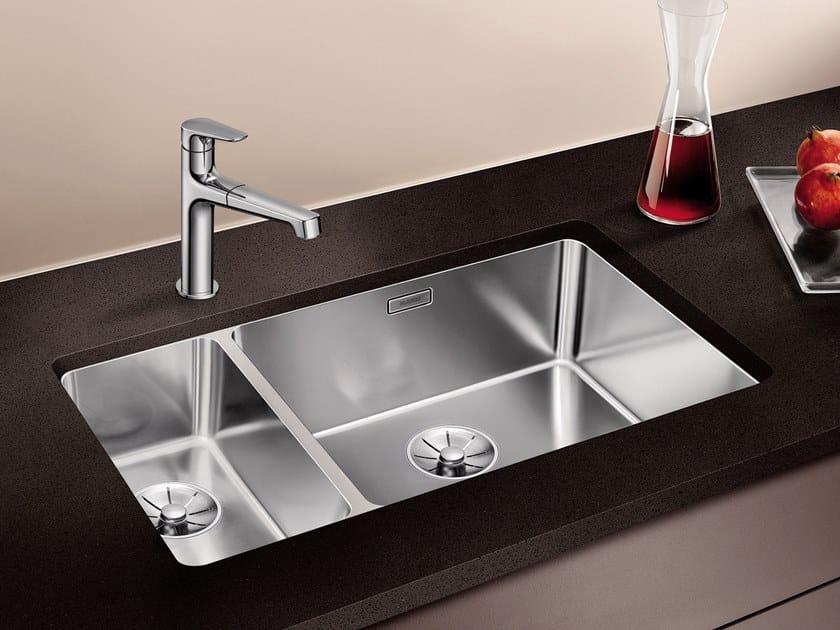 Lavello a una vasca e mezzo sottotop in acciaio inox BLANCO ANDANO 500/180-U by Blanco