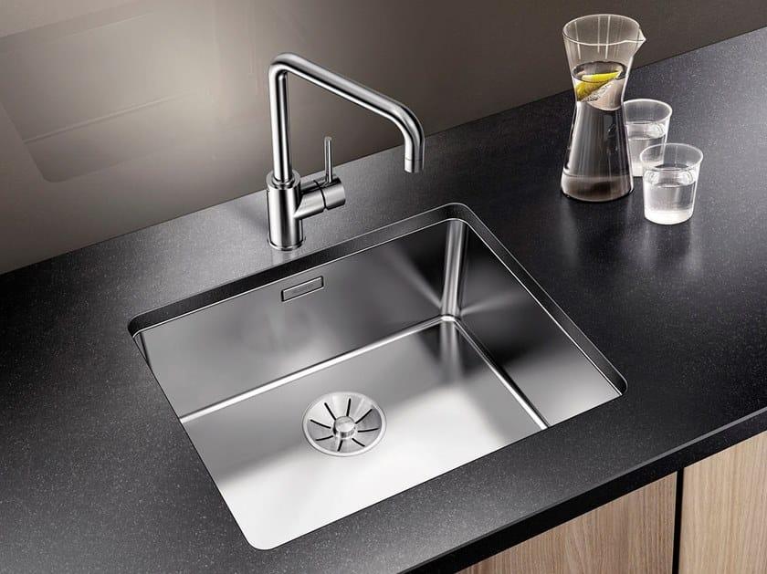 Lavello a una vasca da incasso sottotop in acciaio inox in stile moderno BLANCO ANDANO 500-U by Blanco
