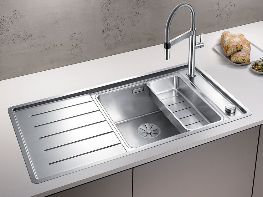 Single stainless steel sink with drainer BLANCO ANDANO XL 6 S-IF by Blanco