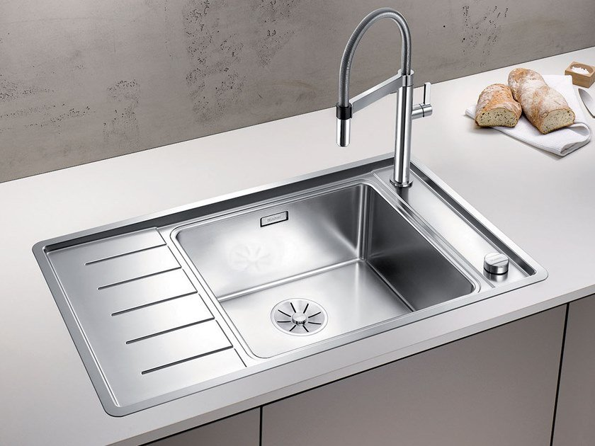 Single sink with drainer BLANCO ANDANO XL 6 S-IF Compact by Blanco