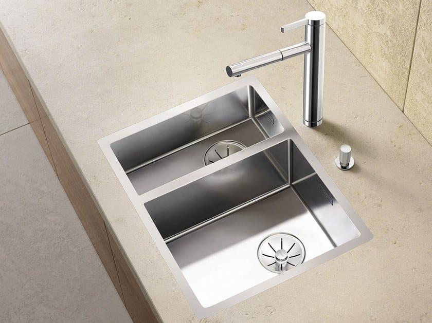 Lavello a una vasca e mezzo filo top in acciaio inox BLANCO CLARON 340/180-IF by Blanco