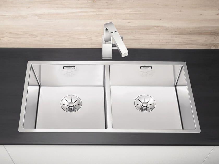 Lavello a 2 vasche filo top in acciaio inox BLANCO CLARON 400/400-IF by Blanco