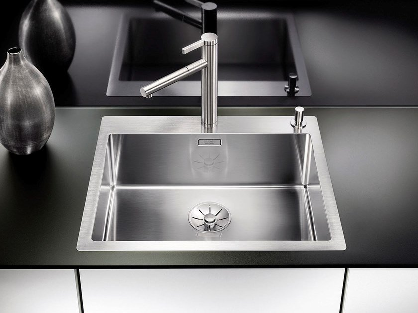 Single flush-mounted stainless steel sink BLANCO CLARON 550-IF/A by Blanco