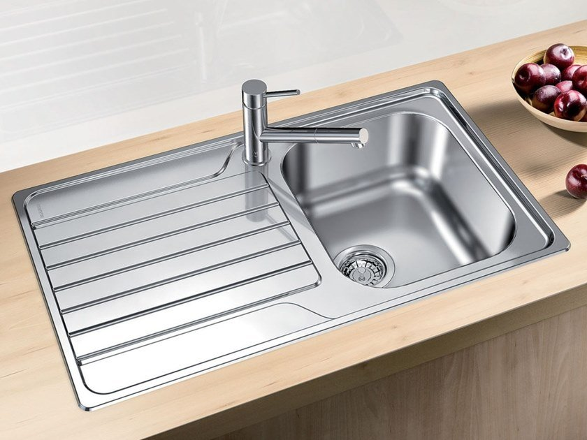 Single built-in stainless steel sink with drainer BLANCO DINAS 45 S by Blanco