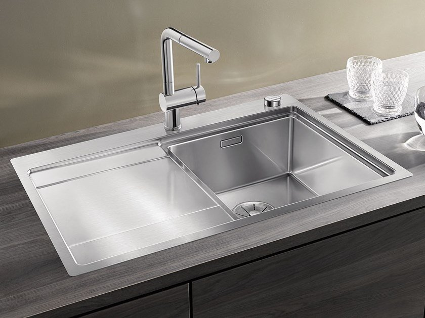 Built-in stainless steel sink with drainer BLANCO DIVON II 45 S-IF by Blanco