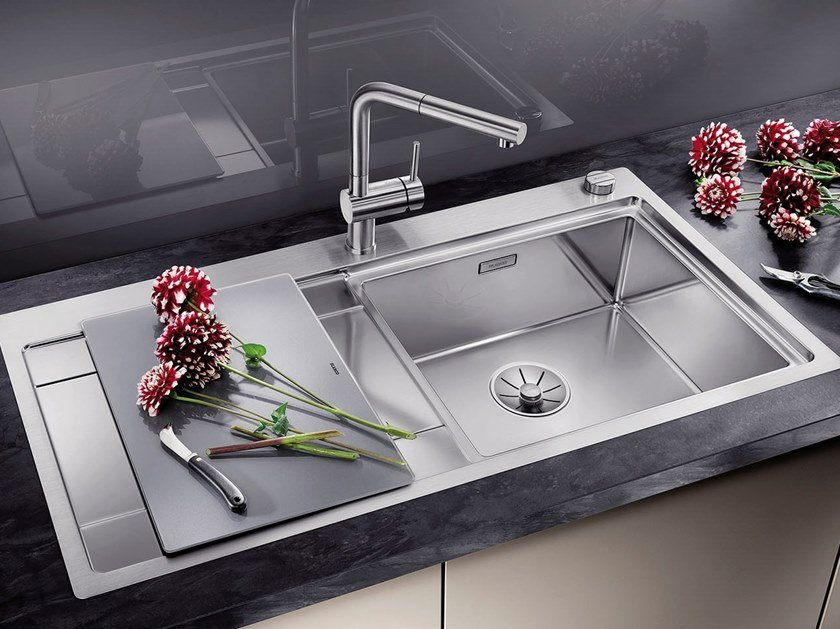 Built-in stainless steel sink with drainer BLANCO DIVON II 5 S-IF by Blanco
