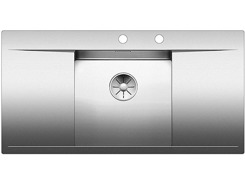 Built-in stainless steel sink with drainer BLANCO FLOW 45 S-IF by Blanco