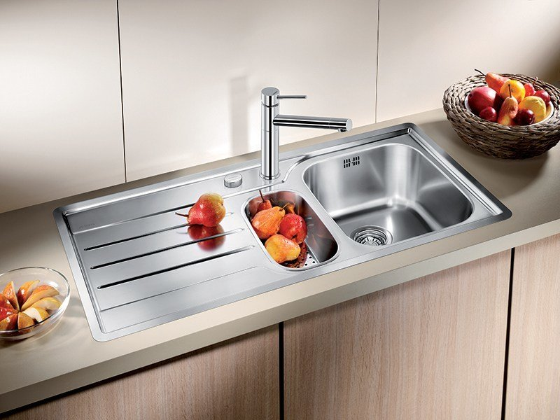 Built-in stainless steel sink with drainer BLANCO MEDIAN 6 S-IF by Blanco