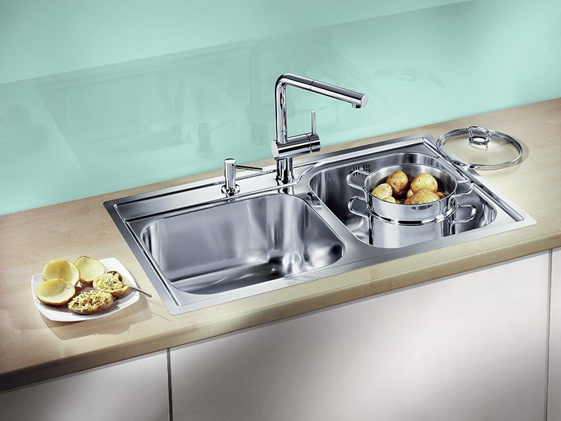 2 bowl built-in stainless steel sink BLANCO MEDIAN 9 by Blanco