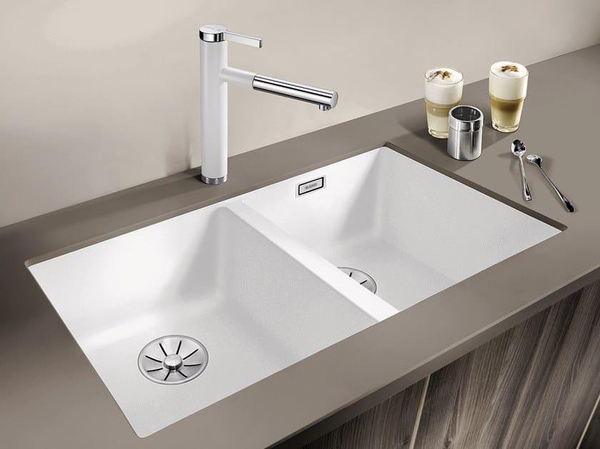 2 bowl built-in Silgranit® sink BLANCO SUBLINE 350/350-U by Blanco