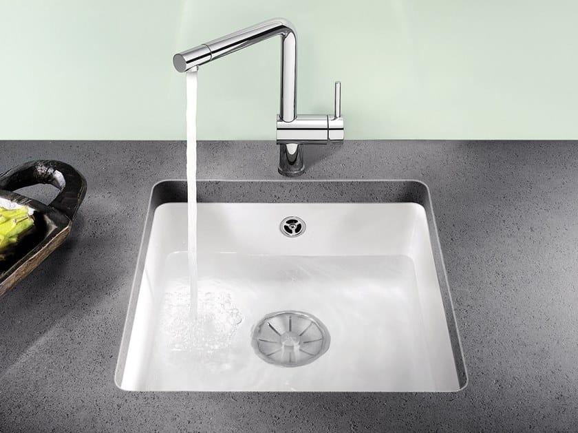 Single undermount ceramic sink BLANCO SUBLINE 375 U by Blanco