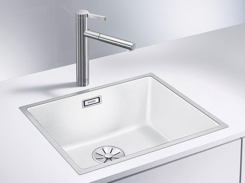 Single built-in Silgranit® sink BLANCO SUBLINE 500-IF SteelFrame by Blanco