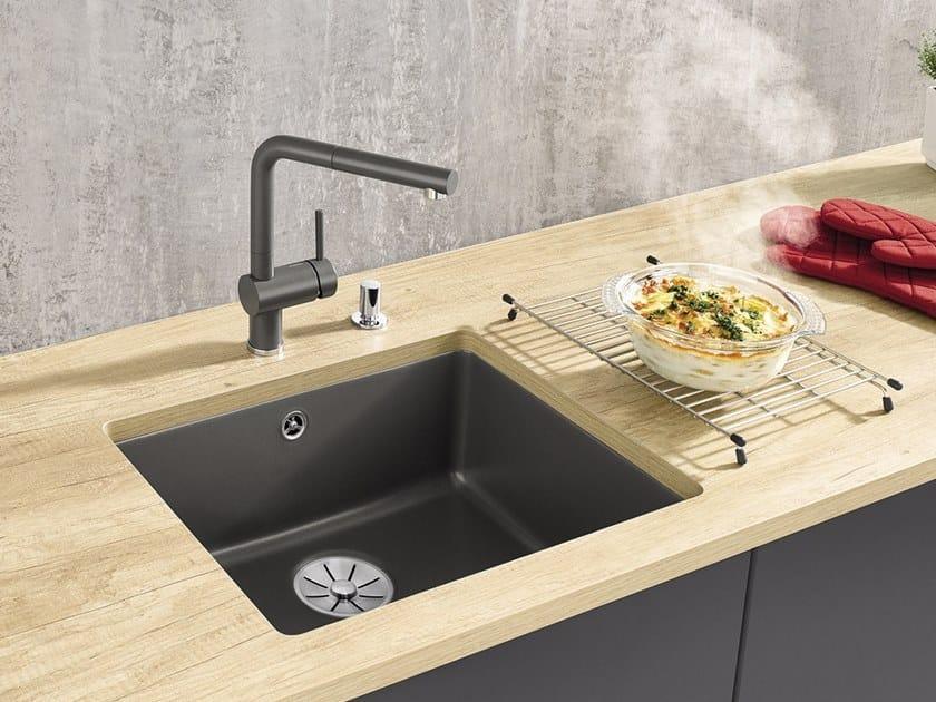 Single undermount ceramic sink BLANCO SUBLINE 500-U | Ceramic sink by Blanco