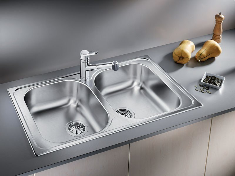 2 bowl built-in stainless steel sink BLANCO TIPO 8 by Blanco