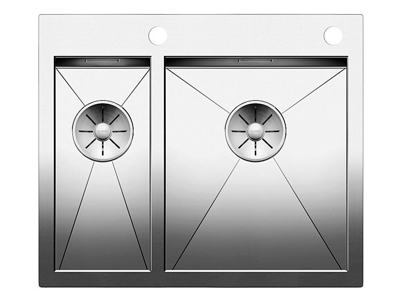 1 1/2 bowl flush-mounted stainless steel sink BLANCO ZEROX 340/180 IF/A by Blanco