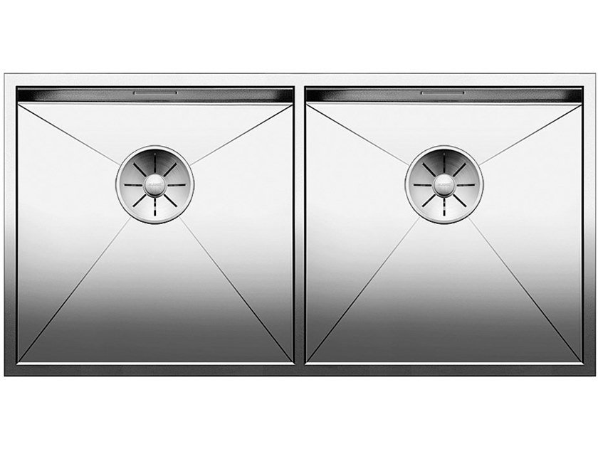 2 bowl built-in stainless steel sink BLANCO ZEROX 400/400-IF by Blanco