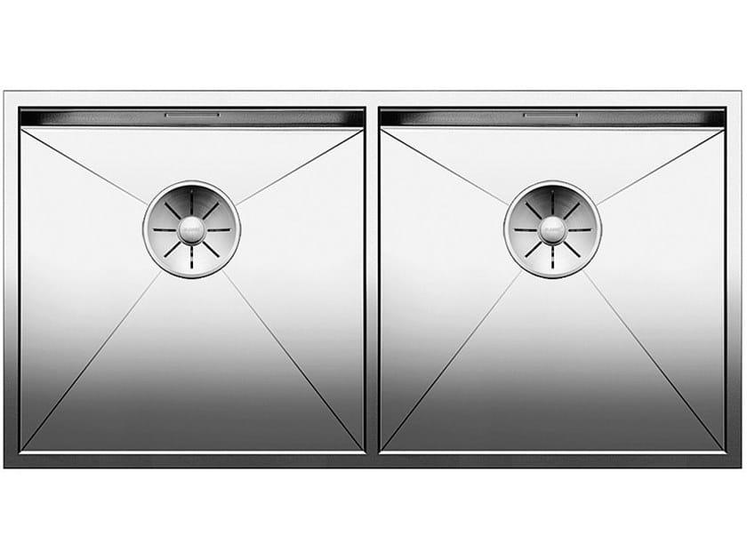 2 bowl undermount stainless steel sink BLANCO ZEROX 400/400 U by Blanco