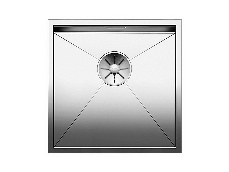 Contemporary style single built-in flush-mounted stainless steel sink BLANCO ZEROX 400 U by Blanco