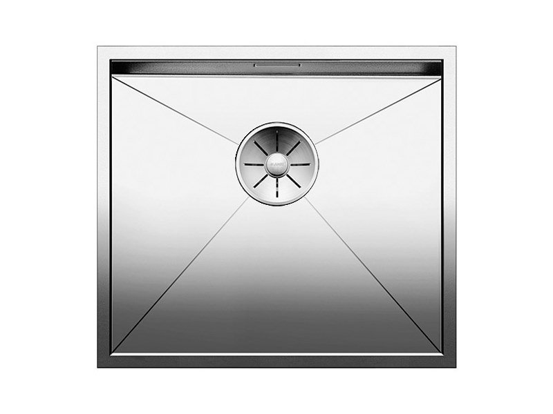 Contemporary style single built-in flush-mounted stainless steel sink BLANCO ZEROX 450 U by Blanco