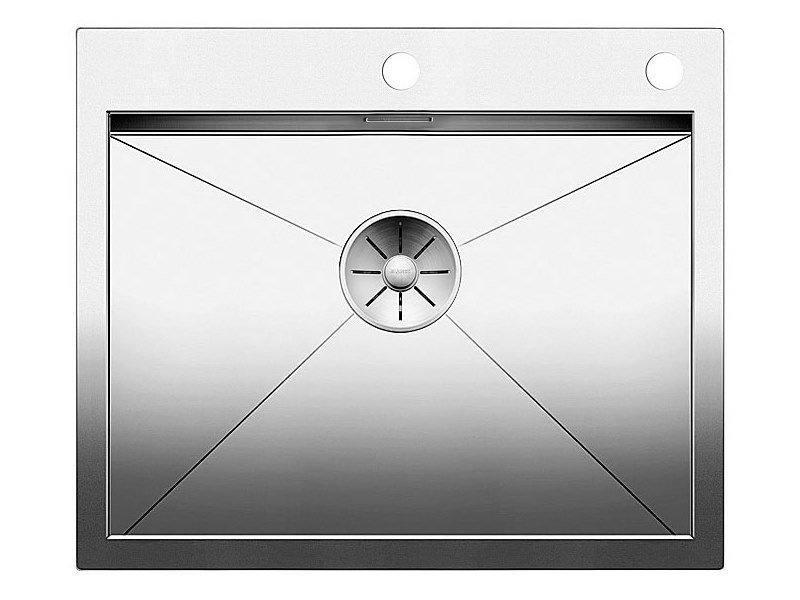 Single flush-mounted stainless steel sink BLANCO ZEROX 550 IF/A by Blanco