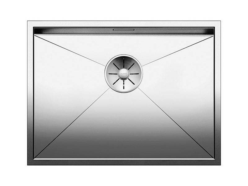 Contemporary style single built-in flush-mounted stainless steel sink BLANCO ZEROX 550 U by Blanco