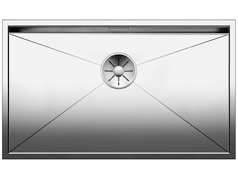 Single flush-mounted stainless steel sink BLANCO ZEROX 700 U by Blanco
