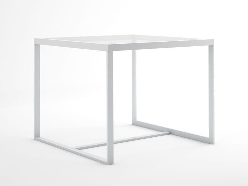 Square thermo lacquered aluminium garden table BLAU | Square table by GANDIA BLASCO