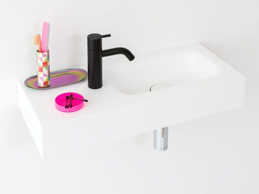 Rectangular wall-mounted HI-MACS® handrinse basin BLEND | Handrinse basin by Not Only White
