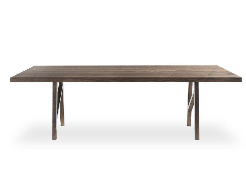 Rectangular solid wood table BLEND by Riva 1920