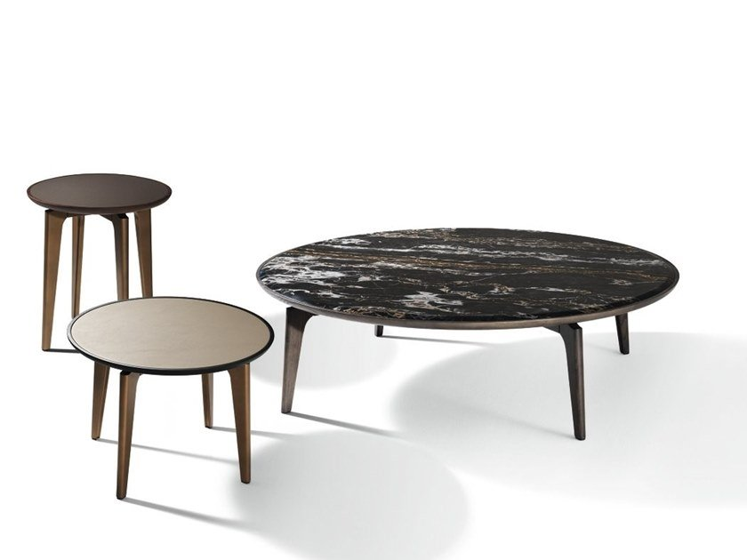 Round marble coffee table BLEND | Round coffee table by GIORGETTI
