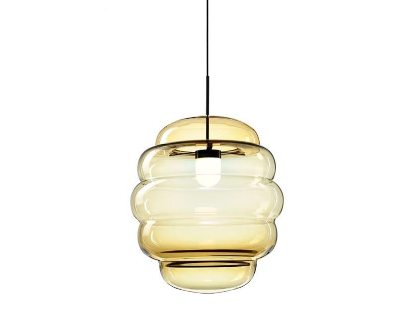 Handmade crystal pendant lamp BLIMP | Pendant lamp by BOMMA