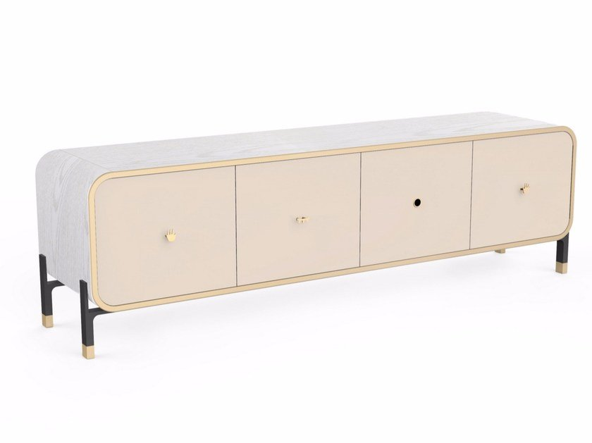 Wooden sideboard with doors BLINK LARGE CABINET by STELLAR WORKS
