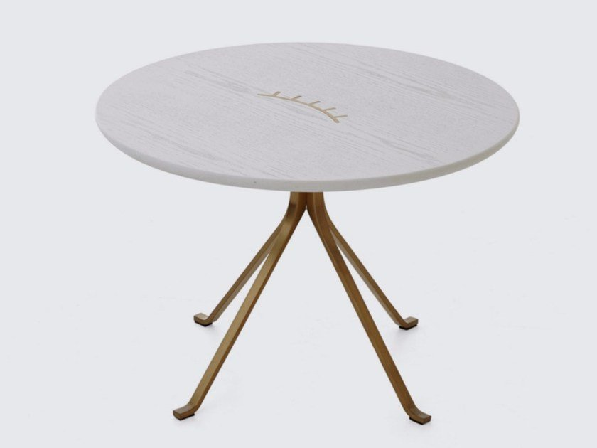 Round coffee table for living room BLINK SIDE TABLE by STELLAR WORKS