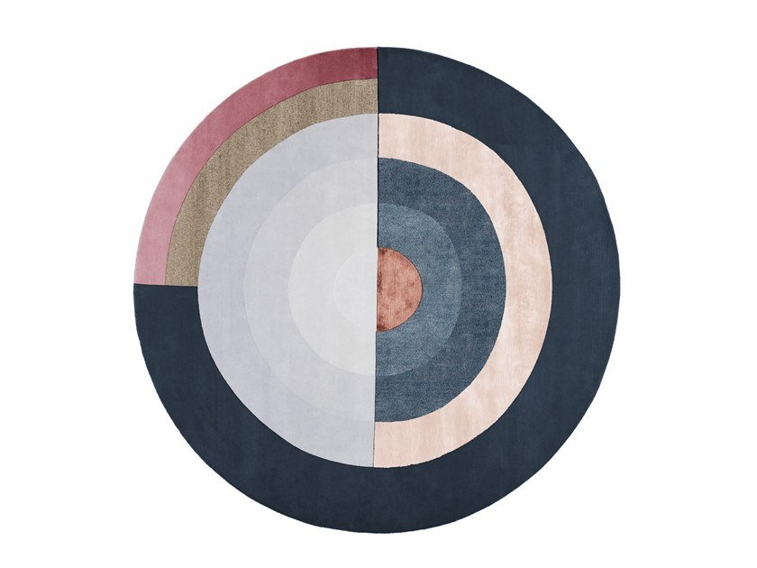 Handmade Round Rug Bliss Round Blue Signature Collection By