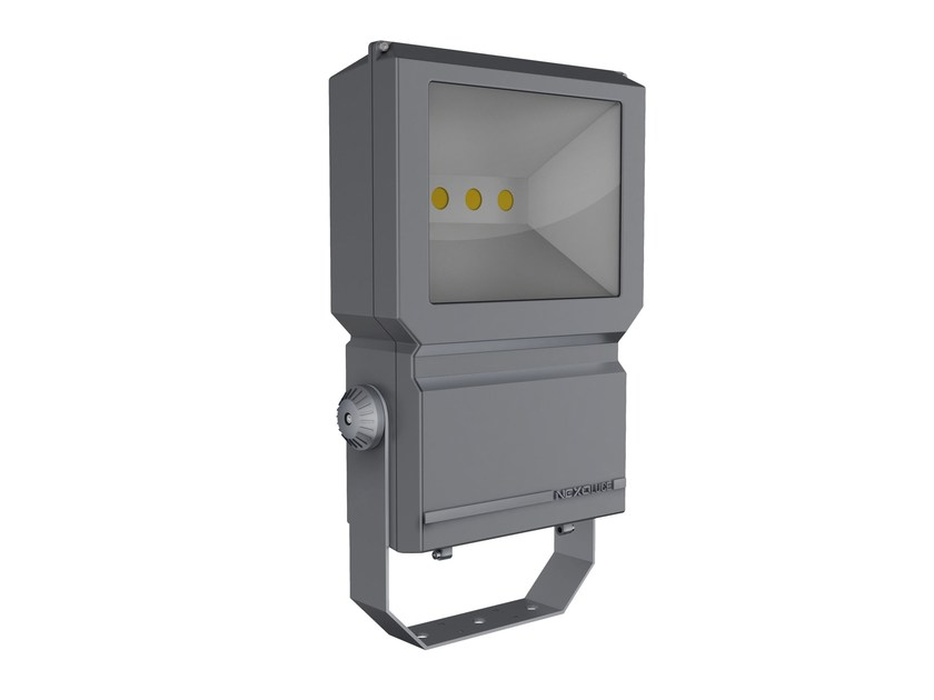 LED adjustable aluminium Outdoor floodlight BLOCCO 75 by NEXO LUCE