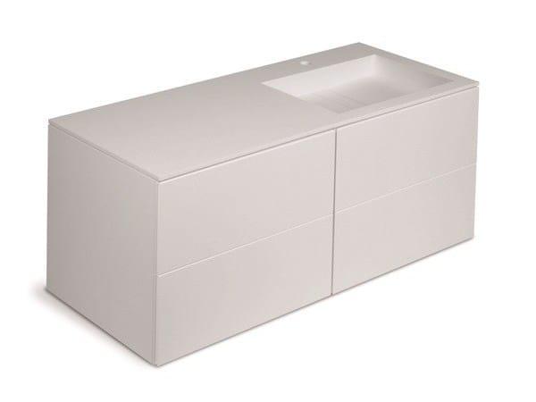 Single vanity unit with drawers BLOCK 779123015   Vanity unit by Cosmic