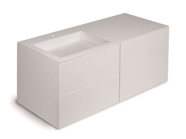 Single vanity unit with drawers BLOCK 779123025 | Vanity unit by Cosmic