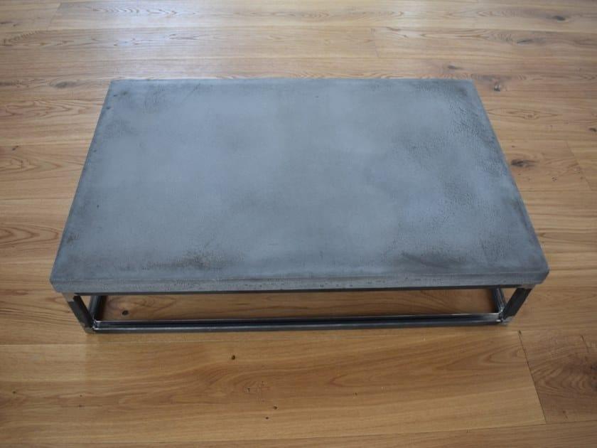 Rectangular concrete coffee table BLOCK by betton