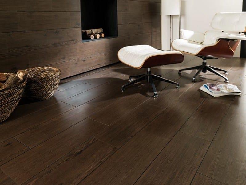Indoor/outdoor porcelain stoneware flooring with wood effect BLOCK by Venis