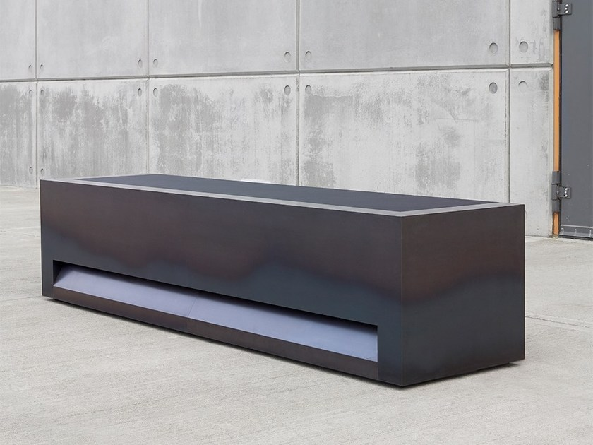 Modular Hot Rolled Steel Reception Desk Blok Office By Isomi