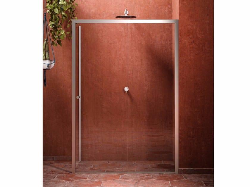 Rectangular crystal shower cabin with hinged door BLONDECRAZY   Shower cabin by Blu Bleu