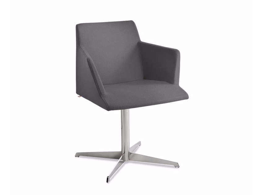 Chair with 4-spoke base with armrests BLOOM 3-P by CHAIRS & MORE